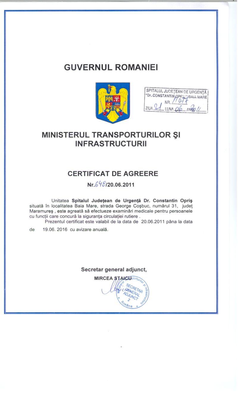 Certificat de agreere